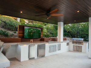 Outdoor Kitchen at Sunset
